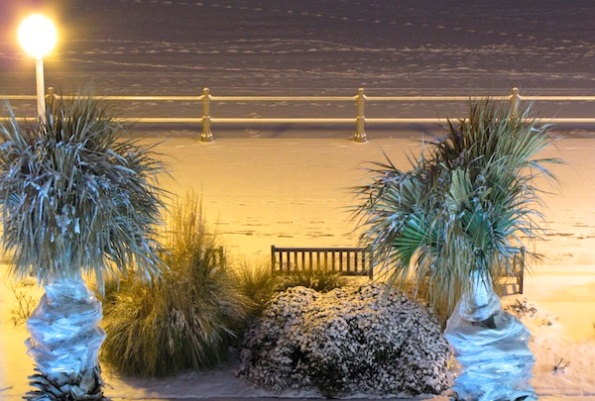 Beach Snow Jan 25